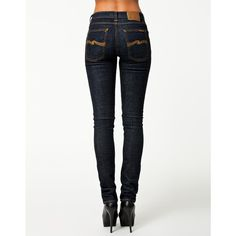 Nudie Jeans Tube Tom Organic Twill Rinsed ($115) ❤ liked on Polyvore featuring jeans, bottoms, pants, twill rinsed, womens-fashion, stretch jeans, zipper jeans, stretchy jeans, nudie jeans co. and super stretch jeans