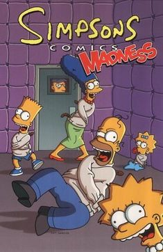 Buy Simpsons Comics Madness by Matt Groening at Mighty Ape NZ. This is a hilarious new collection of comics featuring the outrageous Simpson family. It features the Simpsons exploring the strange secrets that lie . Homer Simpson, Futurama, Comic Book Covers, Comic Books, Krusty The Clown, Simpsons Drawings, Pawer Rangers, Dangerous Games, Classic Comedies