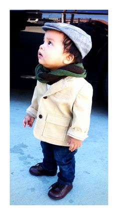 Baby boy scarf!!! Love this.