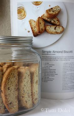 These twice-baked almond biscotti are nutty and crunchy, and don't suffer from the dry affliction that is characteristic of most coffee-house varieties. Fragrant with brandy, almond extract, and va...