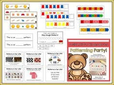 RECENT UPDATES - Lesson Plans with Curriculum Expectation (from The Ontario Kindergarten Program, added - 2 New Patterning Mats Added - Completely updated and revised with new clip art and fonts, original version is still included - 59 New Pages Ad. Math Literacy, Kindergarten Math, Maths, Cube Pattern, Pattern Blocks, Sentence Prompts, Teaching Portfolio, Curriculum Planning, Dry Erase Markers