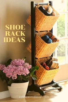 47 Awesome Shoe Rack Ideas in 2020 (Concepts for Storing Your Shoes) Well-organized shoe racks help you grab them fast while needed. It is not that hard to keep them we Shoe Storage, Shoe Racks, Storage Ideas, Amazing Gardens, Beautiful Gardens, Garage Organization, Organizing Tips, Organization Ideas, Diy Garden Decor