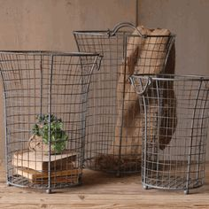 Flared Wire Baskets...Laundry Room