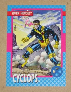 X-Men Series 1 (Impel 1992) Card #17 Cyclops EX