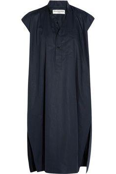 BALENCIAGA Cotton-Poplin Dress. #balenciaga #cloth #dresses