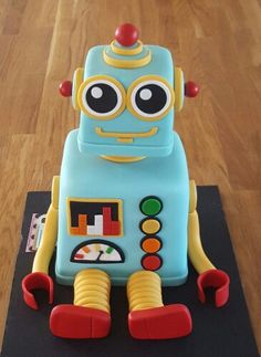Image result for robot birthday cake