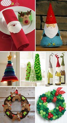 Inspirações & ideias: Decoração de Natal com feltro – Blog do Tanlup
