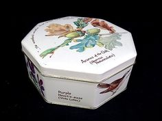 Sold Vintage 1977 Richard Webb Hinged Octagon Tin Made in ENGLAND