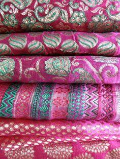 Indian silk brocades