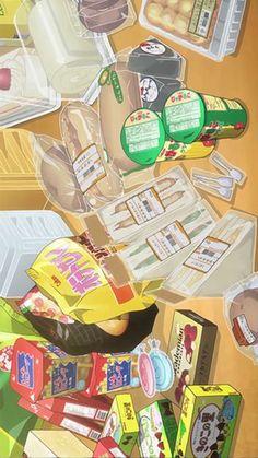 아이폰 애니메이션 음식 배경화면_02 : 네이버 블로그 Food Wallpaper, Anime Scenery Wallpaper, Aesthetic Pastel Wallpaper, Kawaii Wallpaper, Cute Wallpaper Backgrounds, Cartoon Wallpaper, Cute Wallpapers, Aesthetic Drawing, Aesthetic Art