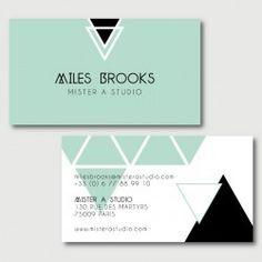 Miles Cartes De Visite Modele Carte Design Identite