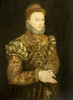 Portrait of an Unknown Lady  (possibly Anne Paget, Lady Sharington, d.1608)  by Master of the Countess of Warwick  (circle of)