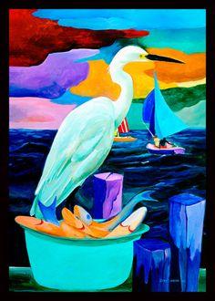 Ivey Hayes Art Work      WHITE HERON
