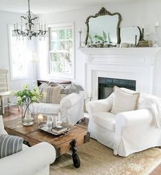 Fancy french country living room decor ideas (18)