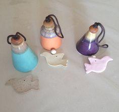 3 Ceramic bellsset 3 Campanelle in ceramicaeaster di NuuForYou