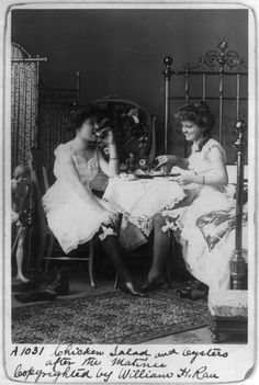 Chicken Salad and Oysters After the Matinee, 1901.  (via:f*yeahvictorians: turnofthecentury: queering)