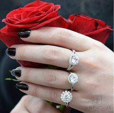 Roses are a beautiful gift for #ValentinesDay, but we know what she really wants... #DIAMONDS #PutARingOnIt  Price Upon Request: 937-298-0171, info jamesfree.com
