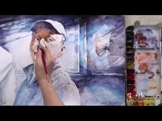 How to paint a self portrait in watercolor - YouTube