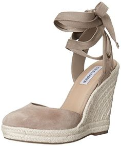 Steve Madden Women's Barre Espadrille Wedge Sandal, Taupe Suede, 10 M US -  Yes! The Shoe Fits!