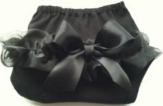 Black Chiffon Diaper Cover  Available 03 by BabyThreadsByLiz, $7.95