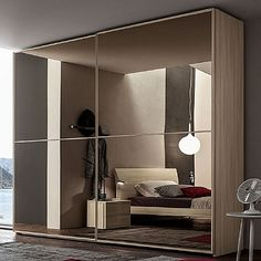 Beautiful wardrobe with mirror 'Rousseau'. Mirror, original and modern piece. High quality materials. My Italian Living.