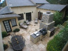 Mediterranean Backyard +garden +fireplace +privacy Design, Pictures, Remodel, Decor and Ideas - page 3