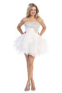 Strapless Sweetheart Rouching Mini Length Plus Sizes Rhinestone Bright Dress | eBay