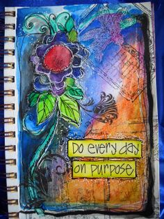 more Joanne Sharpe art journals- Do every day on purpose