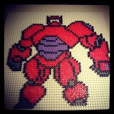 Baymax - Big Hero 6 perler beads by batgirlx - Pattern: https://www.pinterest.com/pin/374291419006700861/