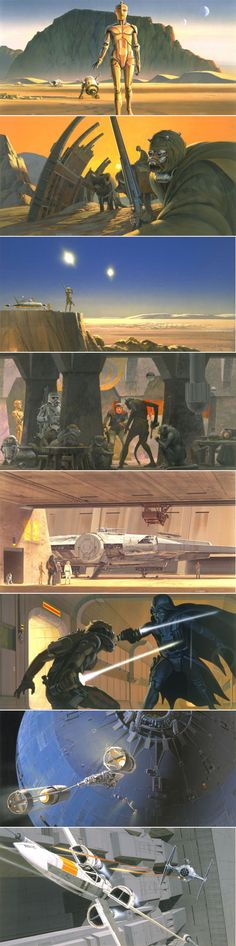 Ralph McQuarrie - Star Wars Episode IV Production Paintings