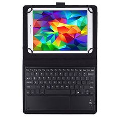 JETech Bluetooth Wireless Keyboard Leather Smart Case with Touchpad for 9 Inch and 10 Inch Tablet PC - 2154 - http://bluetooth.nationalsales.com/jetech-bluetooth-wireless-keyboard-leather-smart-case-with-touchpad-for-9-inch-and-10-inch-tablet-pc-2154/