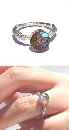 NEW Labradorite Ring, Labradorite Twig Ring, Silver Labradorite ring, Branch Ring