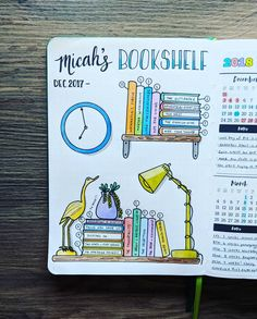 DIY Book Journal Creative - 23 Creative Book and Reading trackers for your Bullet journal. Bullet Journal Tracker, Bullet Journal 2019, Bullet Journal Notebook, Bullet Journal Inspo, Bullet Journal Layout, Book Journal, Bullet Journal Bookshelf, Books To Read Bullet Journal, Bullet Journal Doodles