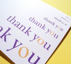 JMU purple and gold thank you cards... great for seniors after graduation