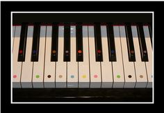 Yamaha U3 Customised with Oscar's Color Of Music