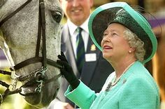 WINDSOR, ENGLAND - MAY 15 2004 Queen Elizabeth II attends the third day of the Royal Ascot