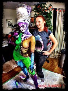 Zombie Queen from head to toe! Congratulations to Blanche Macdonald Makeup instructor/graduate Jennifer Little of A Little Artistry who won 1st place in the Workless Masquerade Ball Bodypaint Competition!
