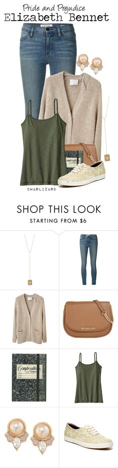 """Elizabeth Bennet"" by charlizard ❤ liked on Polyvore featuring Charlotte Russe, Frame Denim, 3.1 Phillip Lim, MICHAEL Michael Kors, Patagonia, Carolee, Keds, modern, women's clothing and women"