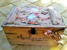 Christening box for a special baby girl! :)