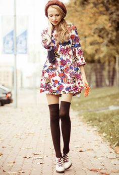 Knee High Socks Outfits-23 Cute Ways to wear Knee High Socks