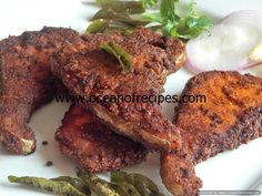 Ocean of Recipes Curry Recipes, Fish Recipes, Chicken Recipes, Fish Fry, Fried Fish, Gobi 65, Veg Pulao, Vegetarian Starters, Dried Chillies