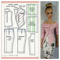 Best 12 Photo only; Easy one-piece bathing suit pattern for a doll. Find a stretchy material, probably add – SkillOfKing. Sewing Barbie Clothes, Barbie Sewing Patterns, Doll Dress Patterns, Diy Clothes, Clothing Patterns, Made To Move Barbie, Suit Pattern, Barbie Dress, Barbie Doll