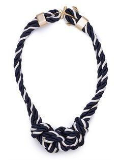Navy Bowline Necklace | BaubleBar
