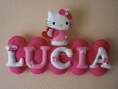 nombre fieltro hello kitty | Aprender manualidades es facilisimo.com