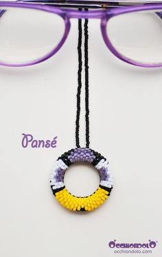 handmade in #Italy #spec-holder #necklace Occhiondolo Pansé