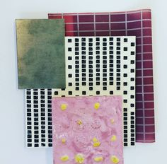Bit of pink #surfacepatterndesign #printedtextiles #print #design #geometry #3ddesign #innovation #tiledesign #lasercut #exposeme #seriality #minimal #resin #latex #plaster #tiledesign by meganwadedesign