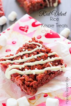The beloved Rice Krispie Treats get a make over! These Red Velvet Rice Krispie Treats are sure to please everyone. Make them for Valentine's Day and surprise your loved ones.