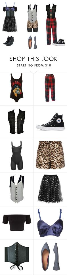 """""""Black Wednesday Girls"""" by attendthetale ❤ liked on Polyvore featuring MadeWorn, Moschino, Jean-Paul Gaultier, Converse, SPANX, RED Valentino, Boohoo and Gap"""