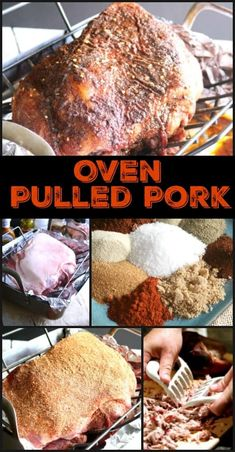 Slow roasted pulled pork in the middle of winter? You betcha! As the name suggests, this Oven Pulled Pork is slow roasted right in your oven! It's so easy Pulled Pork Oven, Pork Roast In Oven, Slow Roast, Pulled Pork Recipes, Bbq Pork, Roast Recipes, Oven Recipes, Roast Brisket, Cooker Recipes