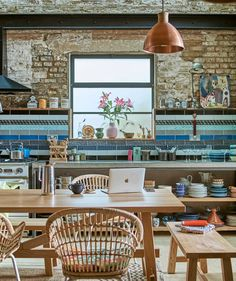 Inside an eclectic home full of collected treasures - IKEA Kitchen Backsplash Designs, Cheap Decor, Eclectic, Before After Kitchen, Eclectic Home, Eclectic Gallery Wall, Cosy Spaces, Cheap Farmhouse Decor, Kitchen Design